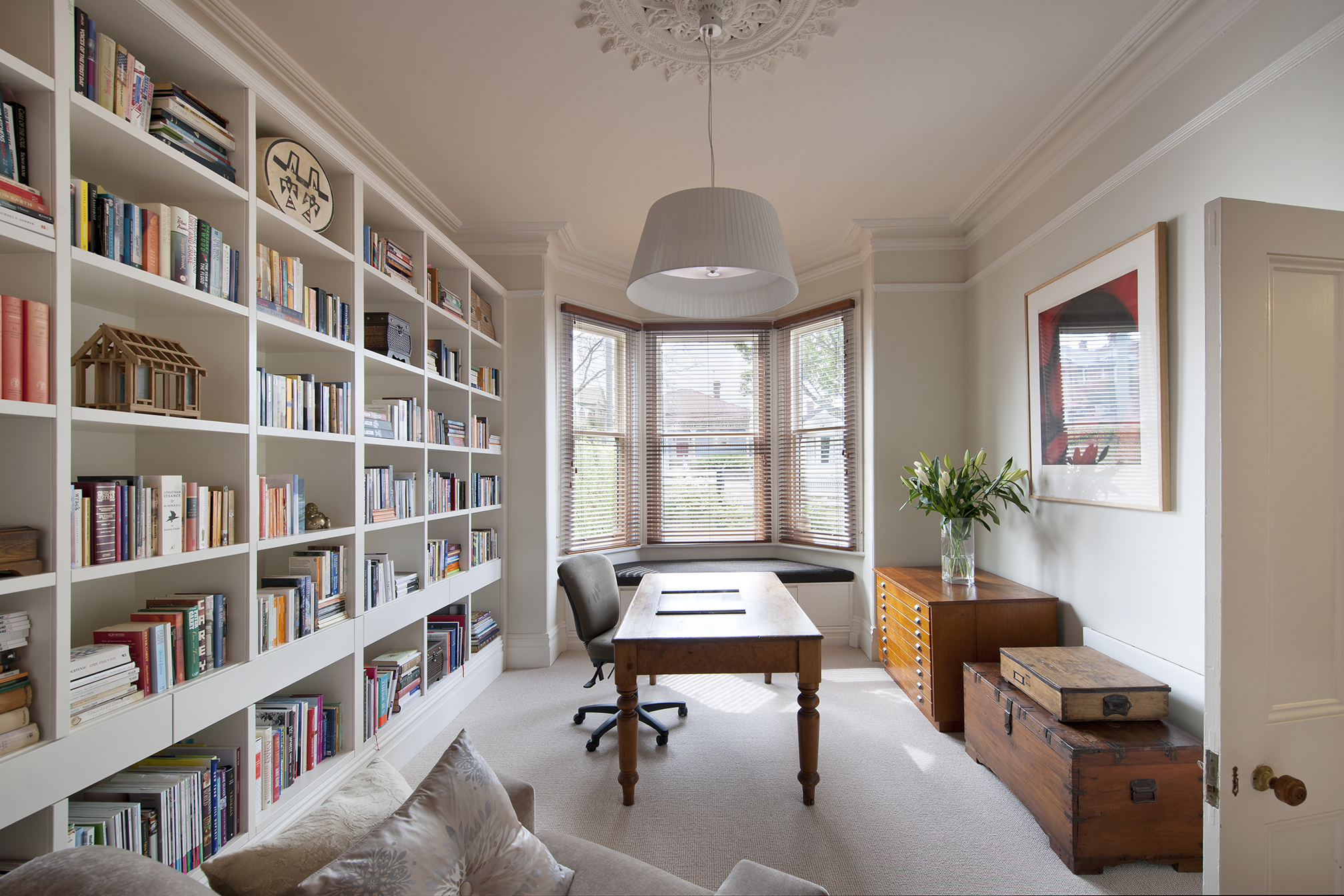 home library with dining table ... & Home libraries \u2013 The house that Jess built.