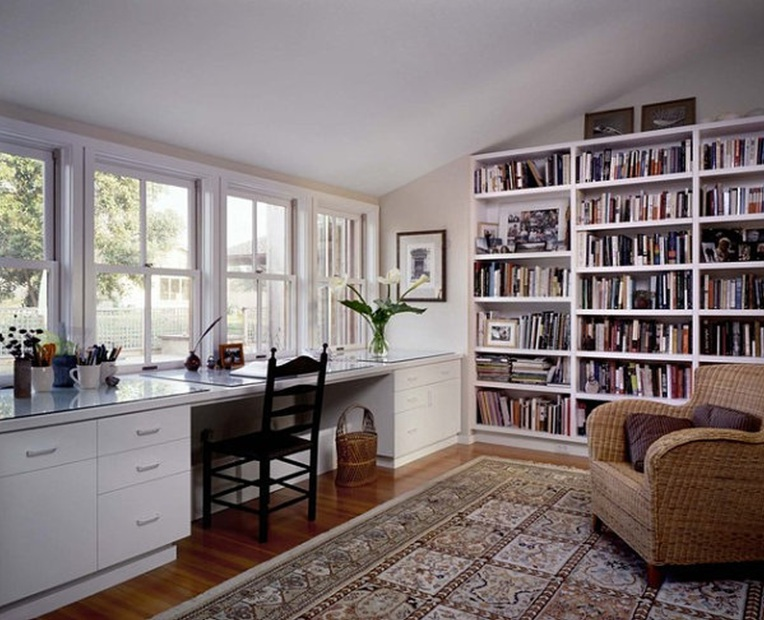 home-office and bookcase